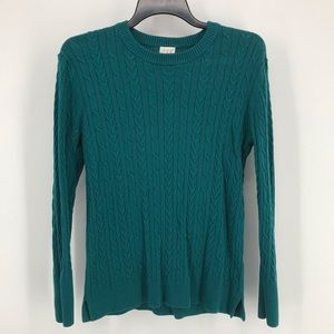 A New Day Green Cable Knot Long Sleeve Sweater